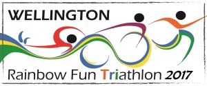 Logo designed for the Rainbown Fun Triathlon 2016, Wellington, New Zealand