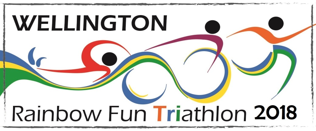 Rainbow fun triathlon logo Final v2